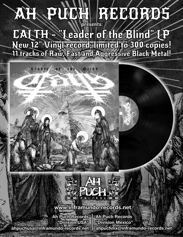 "CALTH – ""Leader of the Blind"" 12″ LP and EXILE T-shirt OUT SOON ..."